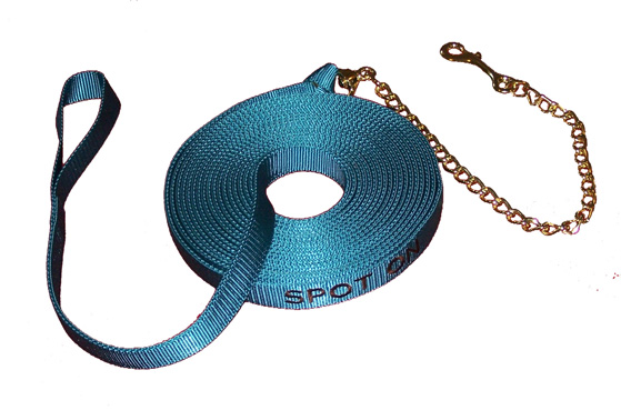 30' Double Thick (2 Ply) Lunge Line with Brass Plated Chain