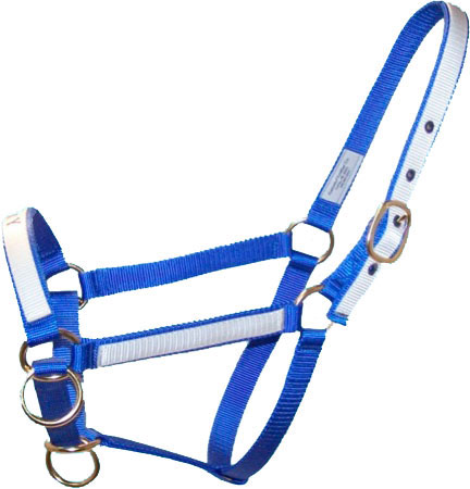"STANDARD HORSE SIDE PULL HALTER - 1"" Base with 3/4"" Overlay"